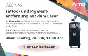 Live-Webinar: Tattoo- und Pigmententfernung mit dem Laser